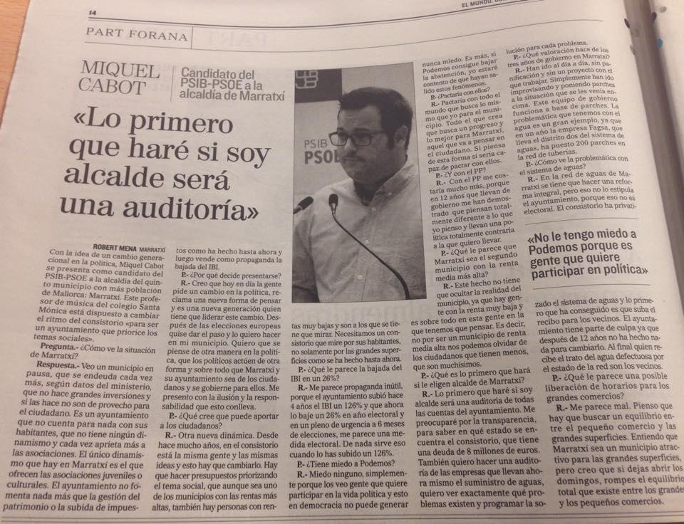 Entrevista ElMundo Miquel Cabot Marratxí